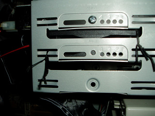 応急処置のHDDファンの固定方法