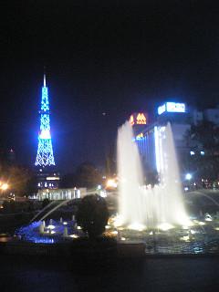 2008年10月10日札幌テレビ塔と大通公園噴水