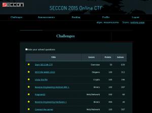 2015年12月30日 SECCON 2015 オンライン予選スコアサーバ