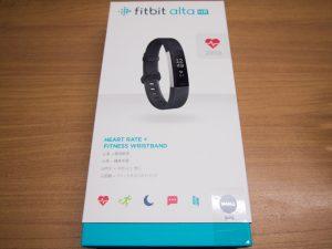 2017年7月17日 Fitbit Alta HR箱