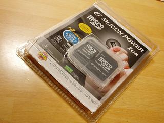 2007年12月22日microSDカード