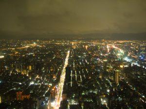 台北101の展望台からの街並み