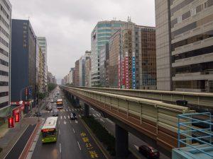 南京復興駅の文湖線ホームからの眺め