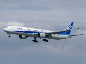瀬長島で撮影したANAの飛行機