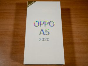 OPPO A5 2020の箱
