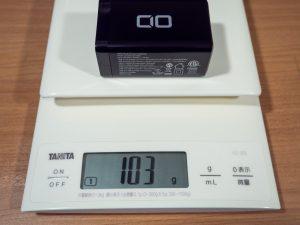 CIO LilNob 65W GaN ACアダプタの重さ