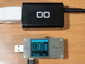 CIO LilNob 65W GaN ACアダプタの単一ポート使用時のPDO