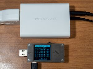 HyperJuice 100W GaN ACアダプタの複数ポート使用時のPDO