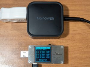 RAVPower 90W 2-Port Wall Chargerの単一ポート使用時のPDO