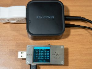 RAVPower 90W 2-Port Wall Chargerの複数ポート使用時のPDO