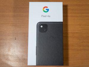Pixel 4aの箱