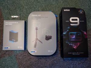 GoPro HERO9 Blackと周辺機器の箱