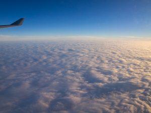 帰りの飛行機内からの景色