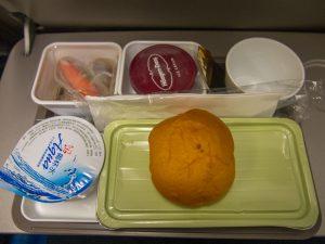 帰りの飛行機での機内食