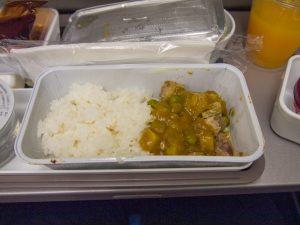 帰りの飛行機での機内食のご飯もの