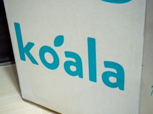 コアラマットレスの箱のロゴ