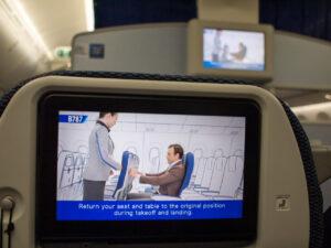 行きの飛行機内のディスプレイ