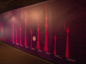 Sydney Tower Eyeにあった世界の主要なタワーとの高さ比較
