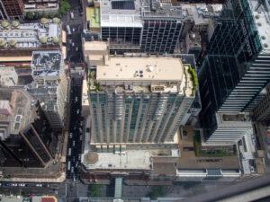 Sydney Tower Eyeの西側真下