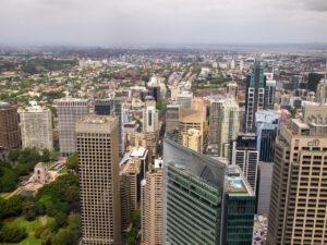 Sydney Tower Eyeからの南向きの眺め