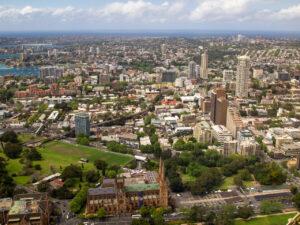 Sydney Tower Eyeからの東向きの眺め